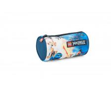 Trousse scolaire ronde Lightning Battle - LEGO NINJAGO - 1 compartiment - Bleu