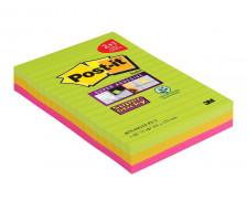 Pack 2 blocs Super Sticky XXL + 1 bloc Super Sticky offert - POST-IT - 3 coloris