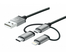 Câble USB 3 en 1 - MOBILITYLAB - 1 m