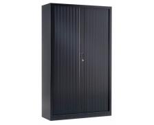 Armoire monobloc métal H 198 cm - PIERRE HENRY - Noire - Assemblée en 1 bloc