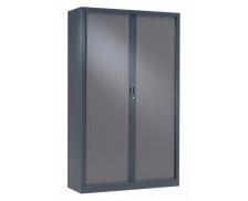 Armoire haute à rideaux monobloc L120 x H198 - PIERRE HENRY - Anthracite