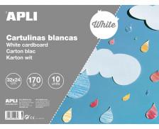 Bloc de 10 cartons de dessin - APLI - 24 x 32 cm - Blancs