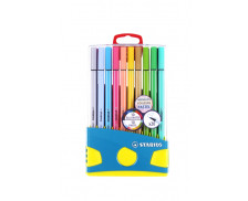 Boîte de 20 stylos-feutres Pen 68 Colorparade - STABILO - Collection Pastel