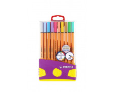 Boîte de 20 stylos-feutres Point 88 Colorparade - STABILO - Pointe fine - Collection Pastel