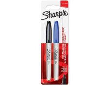 Lot de 2 marqueurs permanents - SHARPIE - Pointe fine - 2 couleurs