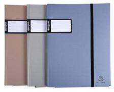 Porte-vue Campus Metal A4 - EXACOMPTA - 60 vues - Coloris assortis
