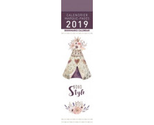 Calendrier marque-pages Boho style - 16 x 4 cm