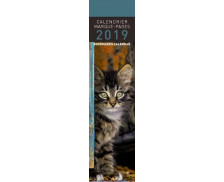Calendrier marque-pages Chats - 16 x 4 cm