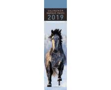 Calendrier marque-pages Chevaux - 16 x 4 cm