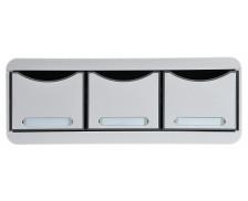 Toolbox maxi 3 tiroirs - EXACOMPTA - Gris lumière - 318740D