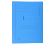 Lot de 50 chemises imprimées à 2 rabats Forever® 290g/m² - 24 x 32 cm - EXACOMPTA - Bleu vif - 445006E