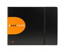 Lot de 5 portes cartes de visite exacard à pochettes détachables 240 cartes Exactive® - 20x25cm - EXACOMPTA - Noir - 75134E