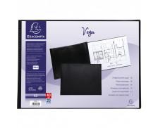 Lot de 5 protège-documents PVC - 40 vues - vega opaque - A3 - EXACOMPTA - Noir - 88330E