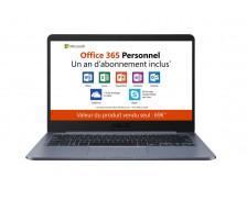 """Ordinateur portable E406MA - ASUS - 14"""" - 64 Go + Pack Office 365 Personnel inclus – 1 an"""