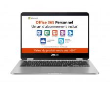 """Ordinateur portable TP401 MAN5000 - ASUS - 14"""" - 128 Go + Pack Office 365 Personnel inclus – 1 an"""