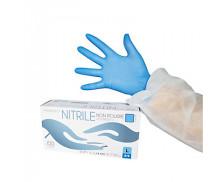 Boîte de 100 gants nitrile non stériles - CENPAC - 7/8 M - Bleu