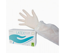 Boîte de 100 gants en latex hypoallergéniques non stériles - CENPAC - 9/10 XL – Blanc