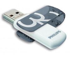 Clé USB Vivid - PHILIPS - 32 Go - USB 2.0 – Gris