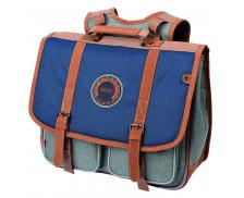 Cartable 2 compartiments - KICKERS - 38 cm - Bleu/marron