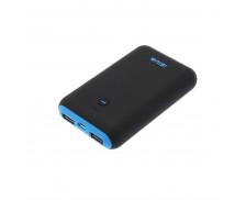 Batterie externe PowerBank - APM - 7500 mAh - Noir/Bleu