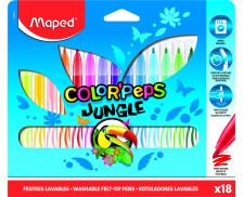 Pochette de 18 feutres Color Pep's Jungle - MAPED - Pointe moyenne - Assortiment de couleurs