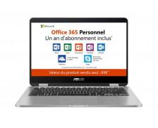 """Ordinateur Portable Hybride VivoBook TP401MA-BZ067TS -  Asus - 14"""" Tactile + Office 365 Personnel 1 an d'abonnement"""