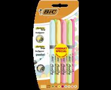 Lot de 8 surligneurs Highlighter Grip - BIC - Assortiment de couleurs