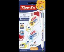 Lot de 2 mini pocket mouse + 1 stylo Bic 4 couleurs - TIPP-EX - Offre spéciale