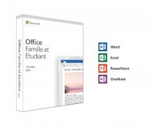 Logiciel Microsoft Office Famille et Etudiant - PC et MAC