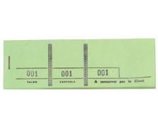 Carnet passe partout de 100 tickets - 96405E - EXACOMPTA - Vert