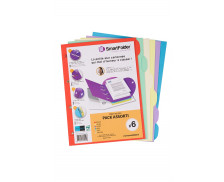Lot de 6 chemises - SMART FOLDER - 80 feuilles - Coloris assortis