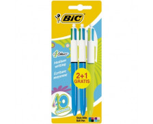 Lot de 2 stylos bille 4 couleurs + 1 Fashion 4 couleurs - BIC