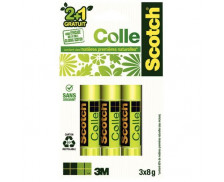 Lot de 3 bâtons de colle naturelle - SCOTCH - 8g