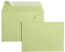 20 Enveloppes 114x162 POLLEN - vert bourgeon 120g bande siliconée