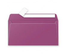 20 Enveloppes 110x220 POLLEN - cassis 120g adhéclair