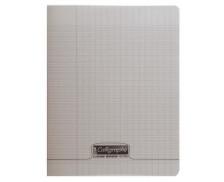 Cahier 17x22 cm - CALLIGRAPHE - Grands carreaux - 64 pages - Gris