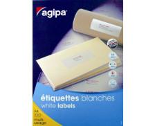 3300 Etiquettes  multiusage AGIPA - 70x25mm - Blanc