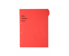 Chemise dossier photo 24x32 cm - SMART FOLDER - Rouge