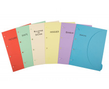 Chemise pack 6 thèmes maison 24x32 cm - SMART FOLDER - 6 couleurs