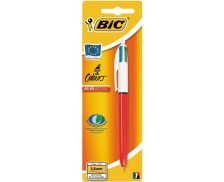 Stylo bille 4 couleurs - BIC - Rouge