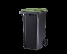 Poubelle conteneur 2 roues - CEP - 240 litres - Gris/vert