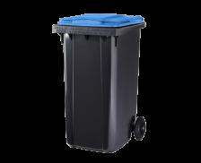 Poubelle conteneur 2 roues - CEP - 240 litres - Gris/bleu