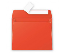 20 Enveloppes 90x140 Pollen - rouge corail 120g adhéclair - CLAIREFONTAINE