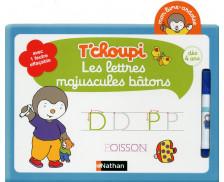 Livre ardoise T'choupi - NATHAN - Les lettres majuscules