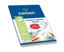 Bloc Feuilles mobiles à dessin perforées - CANSON - 100 pages - A4