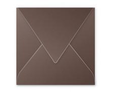 20 Enveloppes 165x165 POLLEN - taupe 120g patte pointue gommée
