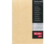 Pochette de 50 feuilles A4 - DECADRY - 200g - Buffalo havane