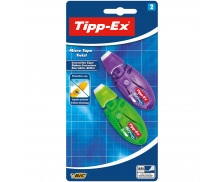 Lot de 2 mini rollers de correction Mirco Tape - TIPP-EX - 8 m
