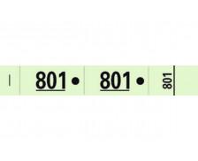 Carnet de 50 tickets vestiaires - 96607E - EXACOMPTA - Vert