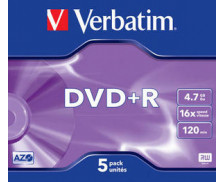 Pack de 5 DVD+R 16x - VERBATIM -  4.7Gb